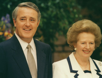 Brian Mulroney and Margaret Thatcher